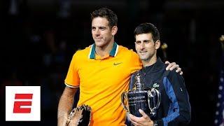 [FULL] 2018 US Open trophy ceremony with Novak Djokovic and Juan Martin del Potro   ESPN