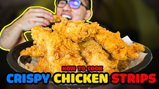 How to cook EXTRA CRISPY CHICKEN STRIPS
