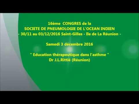 Education thérapeutique dans l'asthme. Dr J L Rittié Réunion