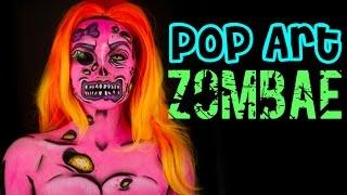 """How to do a Pop Art Zombie – """"Zombae"""" Makeup tutorial"""