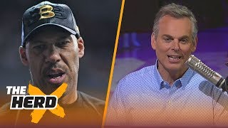 Colin on LaVar saying he wants his 3 sons on the Lakers, Kerr letting his players coach | THE HERD