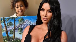 Kim Kardashian DEFENDS Daughter North West's Oil Painting