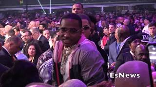 AB, Tank, Rapper Yella Beezy Right After Spence Vs Garcia EsNews Boxing - YouTube