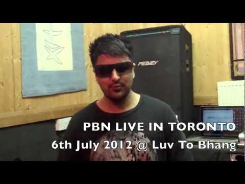 PBN Video Shoutout for his performance this FRIDAY @ SKYBAR in TORONTO!