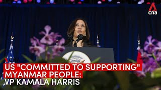 """US """"committed to supporting"""" the people of Myanmar: US Vice President Kamala Harris"""