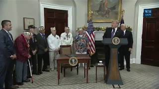 President Trump Signs a Proclamation for National Pearl Harbor Remembrance Day