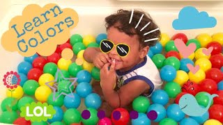 Learn Colors in Ballpit Bath | Color Song | Educational Videos | Nursery Rhymes