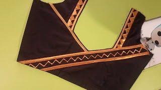 New fashion blouse -cutting and stitching