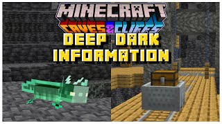 NEW Deep Dark Information You MUST KNOW | Minecraft 1.17 Caves & Cliffs Update