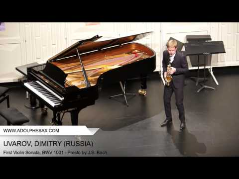Dinant 2014 - UVAROV Dmitry (First Violin Sonata, BWV 1001 - Presto by J.S. Bach)