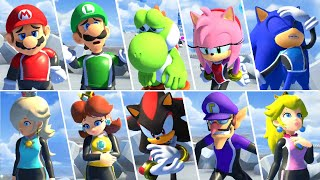 Mario & Sonic at the Olympic Games Tokyo 2020 - All Losing Animations (Surfing)