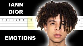 Iann dior - emotions (Easy Guitar Tabs Tutorial)