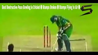 Best Destructive Pace Bowling in Cricket ● Stumps Broken ● Stumps Flying in Air ●  Shayyan Brothers