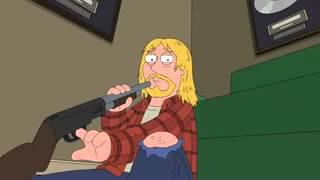 Family Guy Stewie saves Kurt Cobain