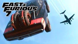 Plane Drop Scene 1/3 - FAST and FURIOUS 7 (Charger, Impreza, Wrangler, Challenger, Camaro) 1080p