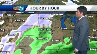 Blowing snow continues as system moves out