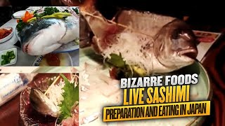 Live Sashimi Preparation and Eating in Japan