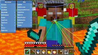 Minecraft Hacker VS 100 Players