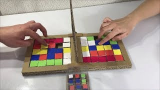 Rubik's Race. Board Game from cardboard