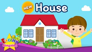 Kids vocabulary - [NEW] House - Parts of the House - English educational video