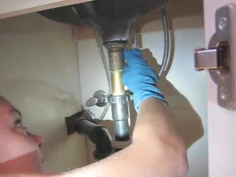 unclog bathroom sink - YouTube