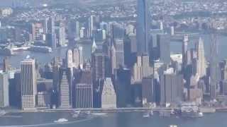 Cảnh quan New York City  từ trên cao.