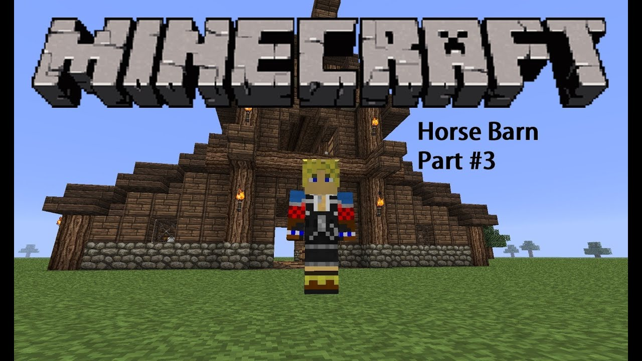 minecraft how to build a horse barn