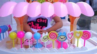 Jualan Es Krim Bohongan 💖 Drama Jadi Penjual Es Krim dan Permen Lolipop (Lollipop) 💖 With Engsub