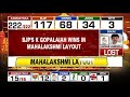 BJPs K Gopalaiah wins in Mahalakshmi  Layout  - 01:05 min - News - Video