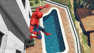 GTA 5 Water Ragdolls   SPIDERMAN Jumps/Fails #16 (Euphoria physics   Funny Moments)