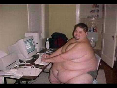 Fat Guy At Computer 46
