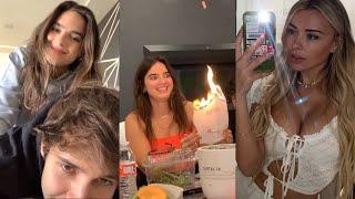Natalie Setting the House on Fire | David Dobrik Tesla Winners Reactions - Vlog Squad IG Stories 63