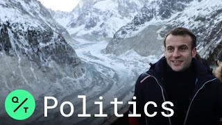 Climate Change Will Be 'Fight of the Century,' Macron Says Visiting Glacier