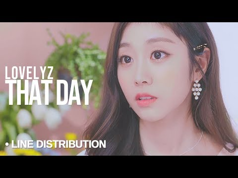 LOVELYZ (러블리즈) - That Day (그날의 너) : Line Distribution (Color Coded)