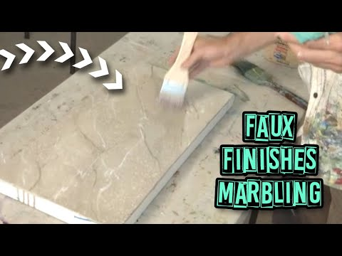 Acrylic painting techniques faux finishes marbling for Pintura decorativa efeito marmore