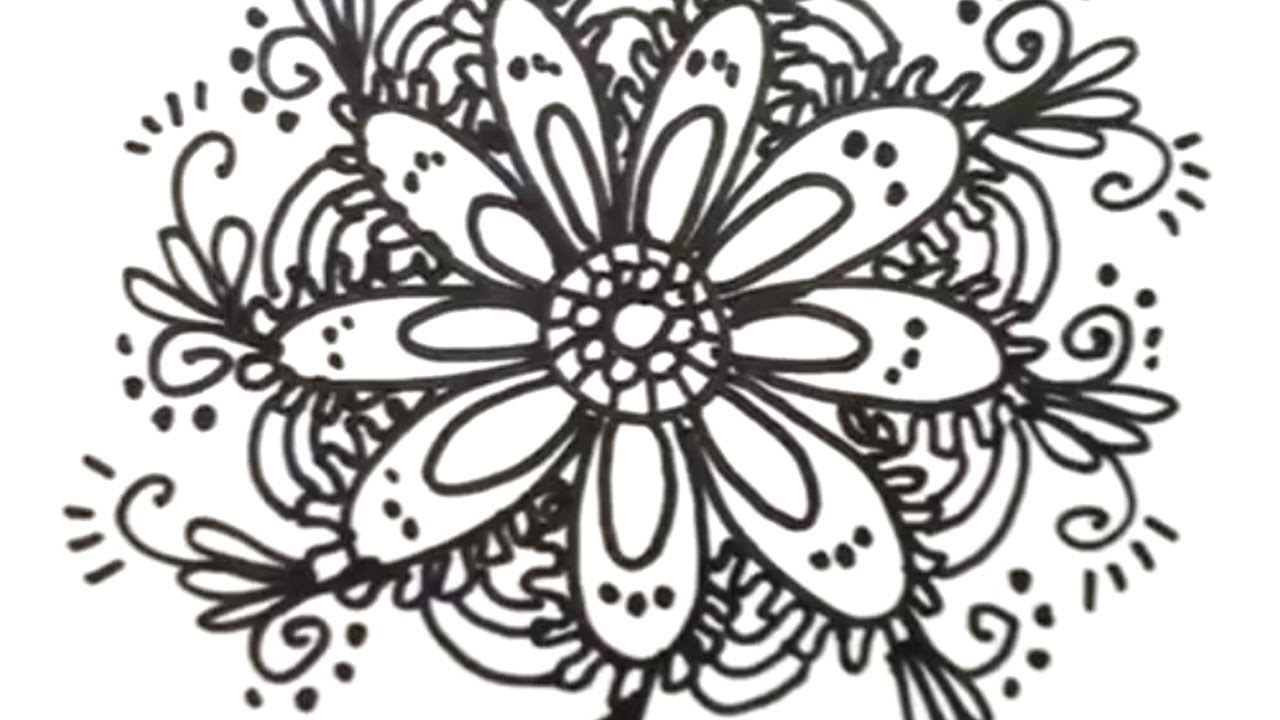 How to Draw Cool Designs - Draw Flower Designs - YouTube