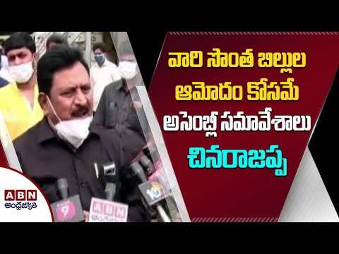 YSRCP govt convened Assembly session to pass its own bills: Chinarajappa