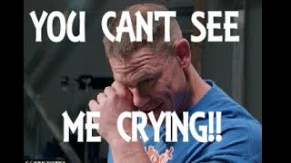 You can't see me crying! WWE star John Cena reduced to tears by surprise video