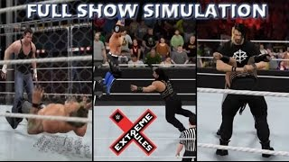 WWE 2K16 SIMULATION: EXTREME RULES 2016 FULL SHOW HIGHLIGHTS