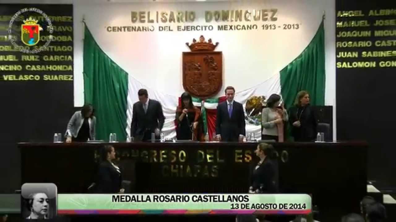 Sesión Solemne Medalla Rosario Castellanos 13 de Agosto de 2014