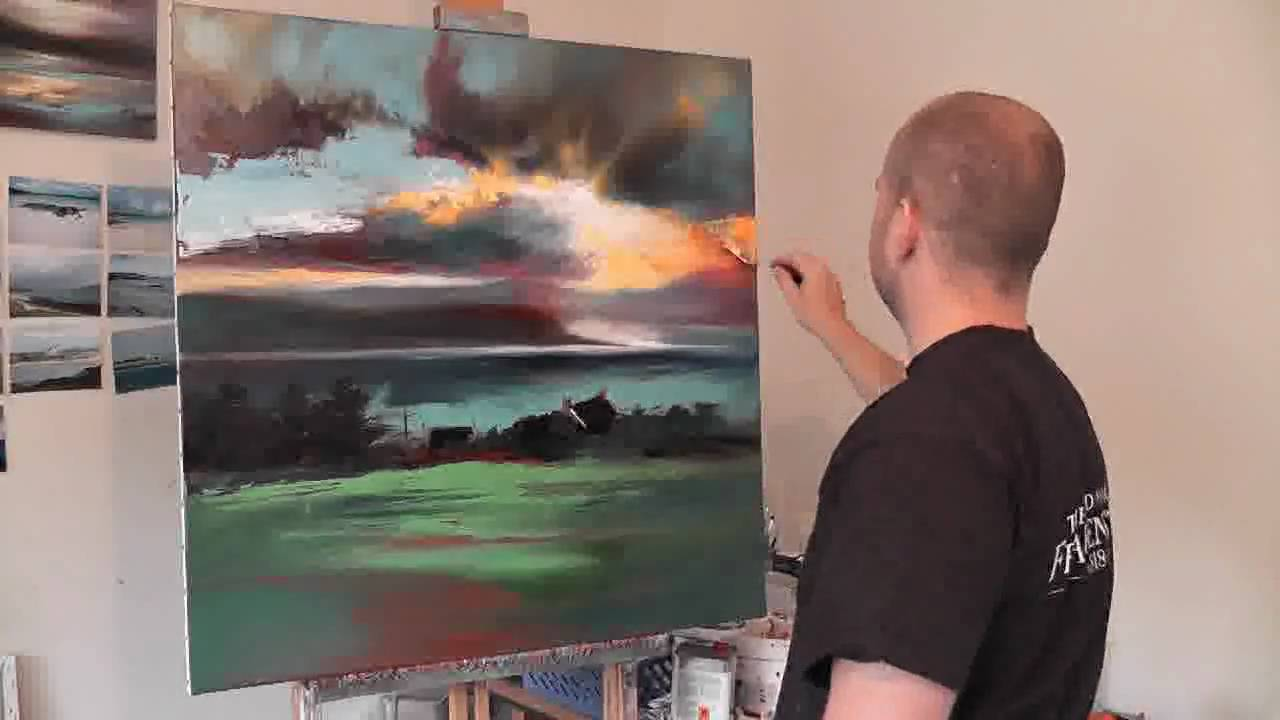 Uig Sky Part2 Scottish Landscape Oil Painting Demo By