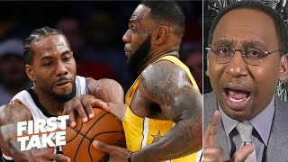 Kawhi's message to LeBron: Stop being scared to guard me! – Stephen A. | First Take