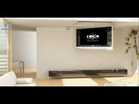 Motorized Fold Down Ceiling Mount By Inca Corporation