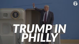 Trump in Philadelphia: President arrives for ABC News town hall at National Constitution Center