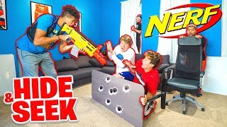 NERF HIDE AND SEEK in $5 Million 2HYPE MANSION