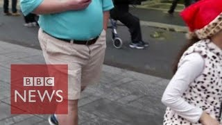 Shorts weather in New York for Christmas - BBC News