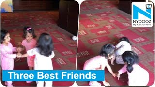 Watch: Dhoni, Raina and Harbhajan's Daughters Playing Toge..