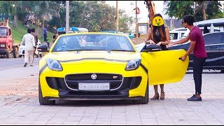 | Gold Digger Prank With Supercar - Jaguar F - Type - First Time in INDIA | By Canbee Lifestyle |