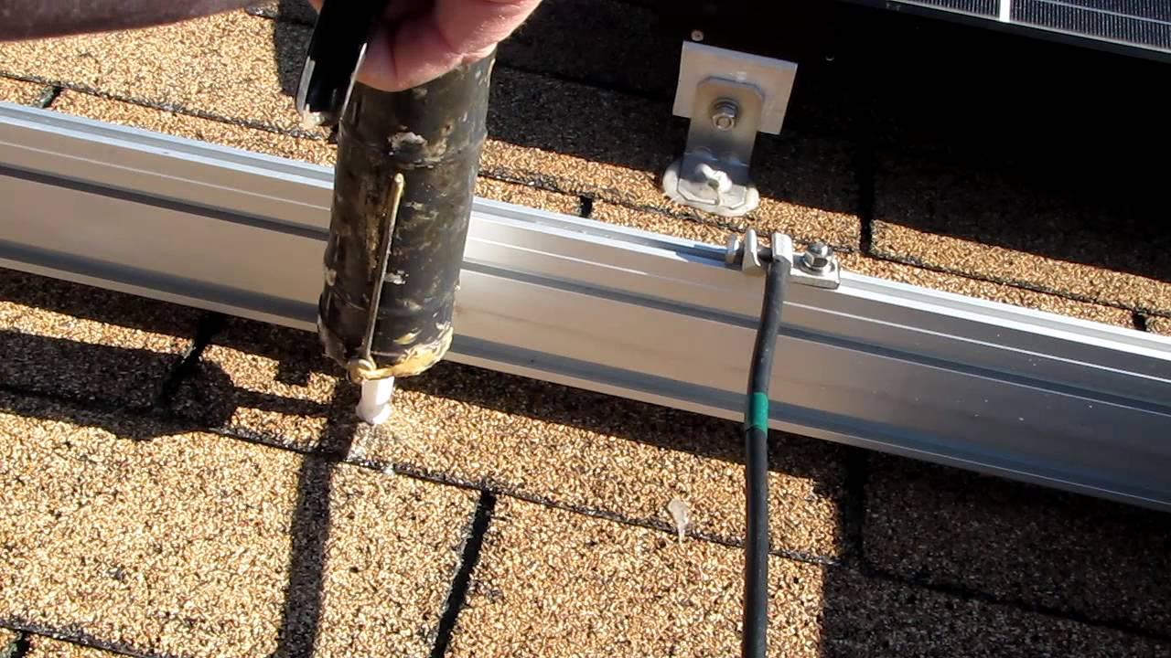 Solar Panel Mounting To Roof How To By Viarlocity Youtube