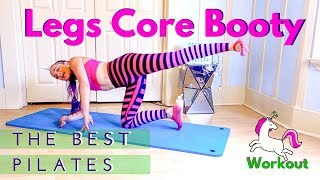 Best Pilates Workout for Legs & Core   30 minutes Unicorn Fit Fun